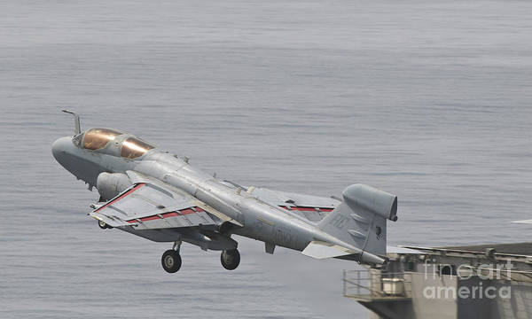 Prowler Photograph - An Ea-6b Prowler Lifts by Giovanni Colla