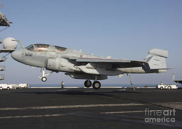 Prowler Photograph - An Ea-6b Prowler Makes An Arrested by Gert Kromhout