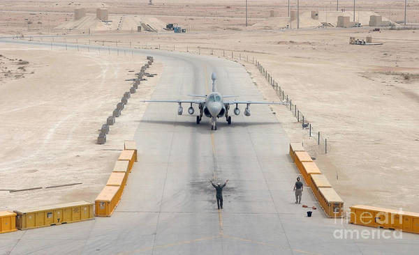 Prowler Photograph - An Ea-6b Prowler Taxis To The Hangar by Stocktrek Images