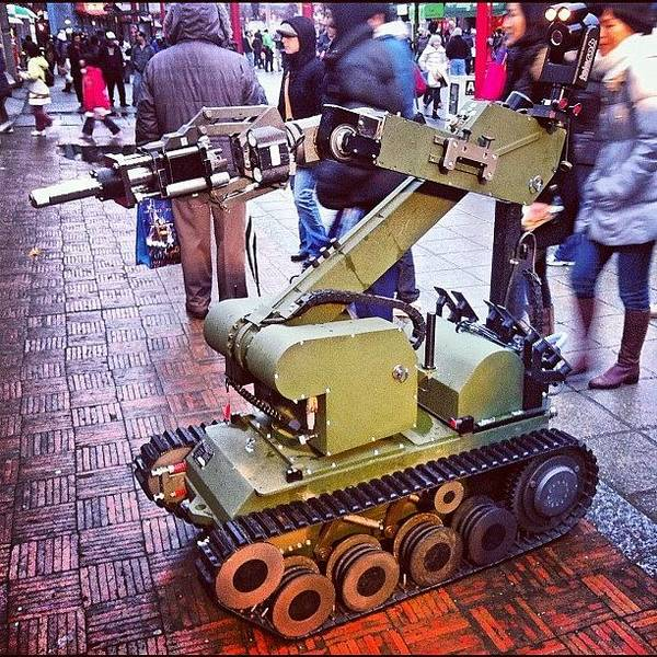 Military Photograph - An #eod #robot On #display For The by Victor Wong