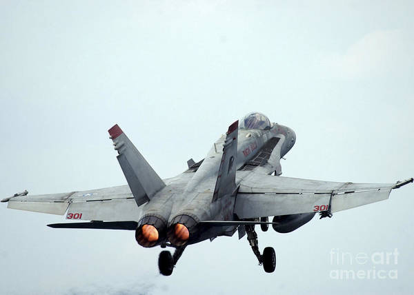 Photograph - An Fa-18c Hornet Taking Off by Stocktrek Images