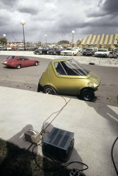 Energy Crisis Photograph - An General Motors Urban Electric Car by Everett