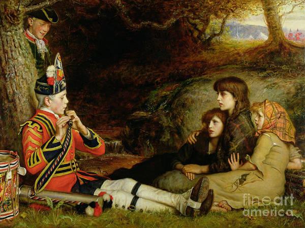 Drummer Painting - An Idyll  by Sir John Everett Millais