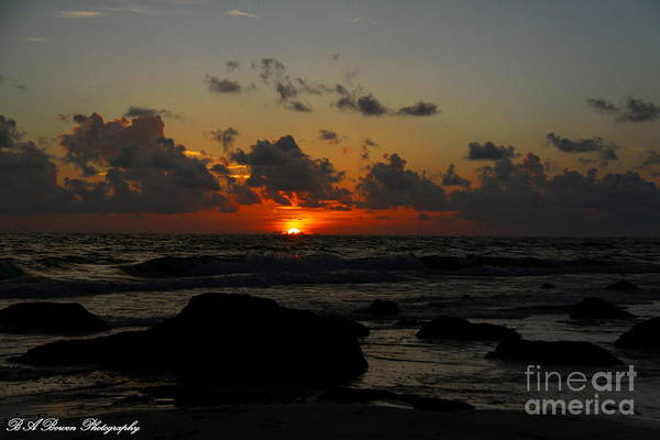 Photograph - An Indian Shores Sunset by Barbara Bowen