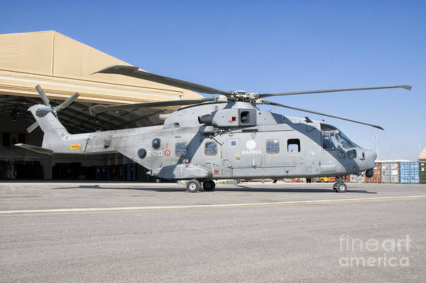 Agustawestland Photograph - An Italian Navy Eh101 Helicopter by Giovanni Colla