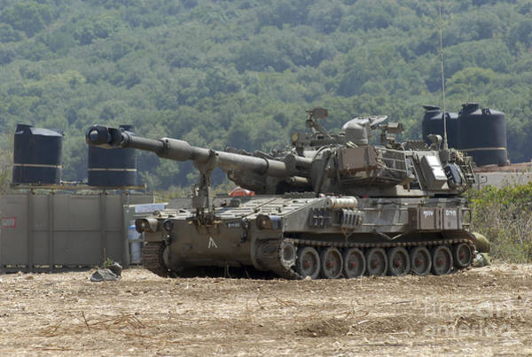 Photograph - An M109 Self-propelled Howitzer by Andrew Chittock
