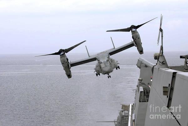 Mv-22 Photograph - An Mv-22b Osprey Takes by Stocktrek Images