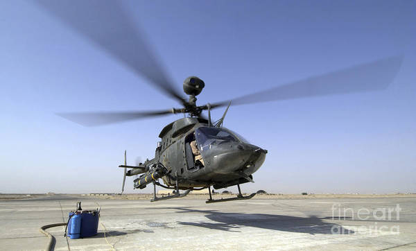 Kiowa Photograph - An Oh-58d Kiowa Warrior Helicopter by Stocktrek Images