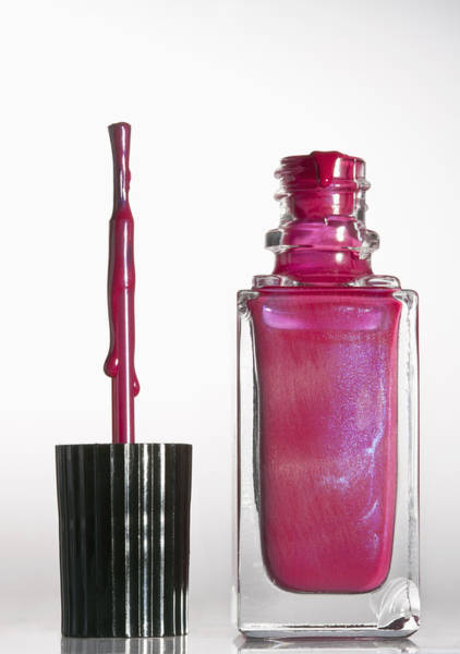 Messier Object Photograph - An Open Bottle Of Pink Nail Polish by Larry Washburn