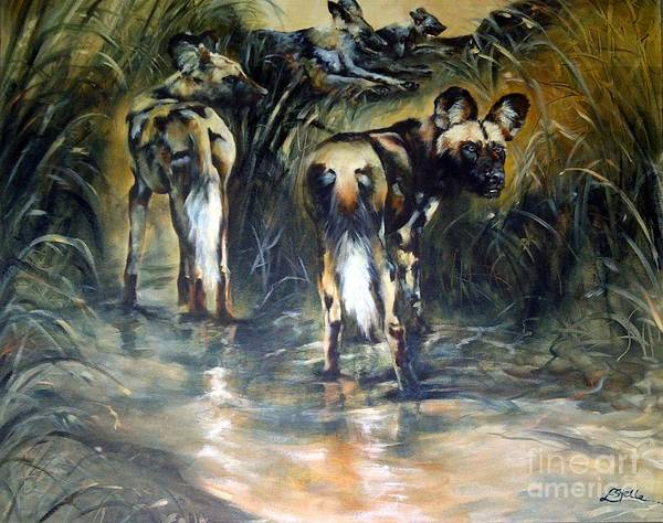 Bullrush Painting - An Ounce Of Extinction. by Estelle Hartley