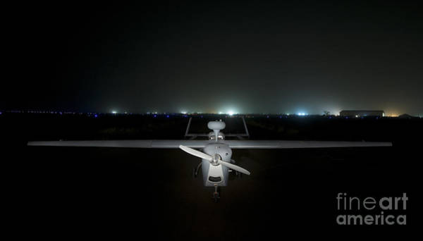 Taxiway Wall Art - Photograph - An Rq-5 Hunter Unmanned Aerial Vehicle by Terry Moore