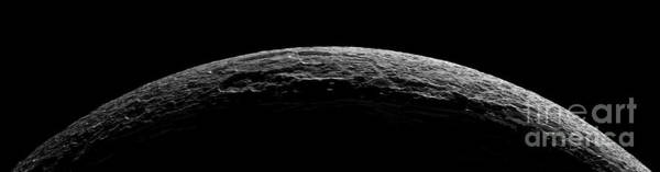 Dione Photograph - An Unreal Landscape Of Saturns Moon by Stocktrek Images