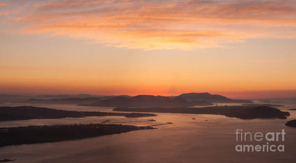 Victoria Harbor Wall Art - Photograph - Anacortes Islands Sunset by Mike Reid