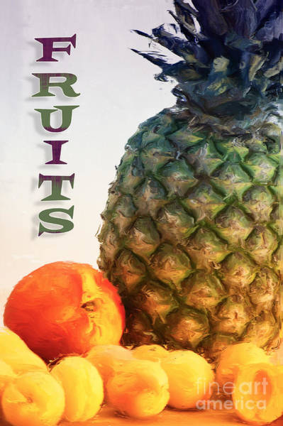Painting - Fruits by Angela Doelling AD DESIGN Photo and PhotoArt