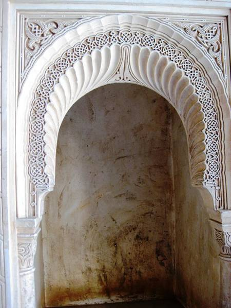 Photograph - Ancient Artistic Hand Carved Wood Arabic Influence Granada Spain by John Shiron