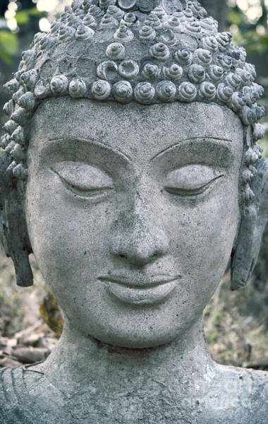 Chang Mai Wall Art - Photograph - Ancient Buddha Statue by Roberto Morgenthaler
