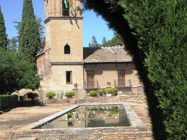Photograph - Ancient Court Yard Pool Granada Spain by John Shiron