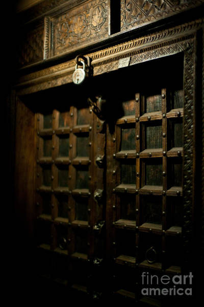 Carving Photograph - Ancient Door by Mike Reid