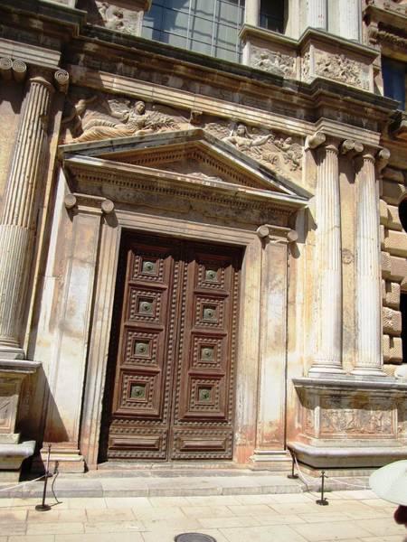 Photograph - Ancient Doorway Column Granada Spain by John Shiron