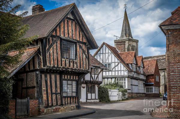 Red Brick Digital Art - Ancient Lingfield Village by Donald Davis