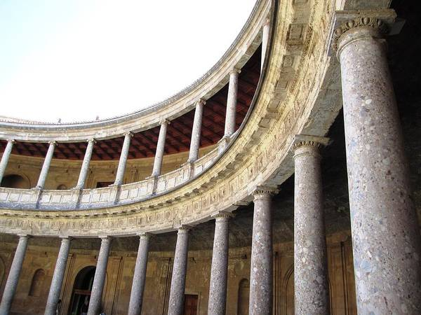 Photograph - Ancient Marble Columns In Round Courtyard by John Shiron