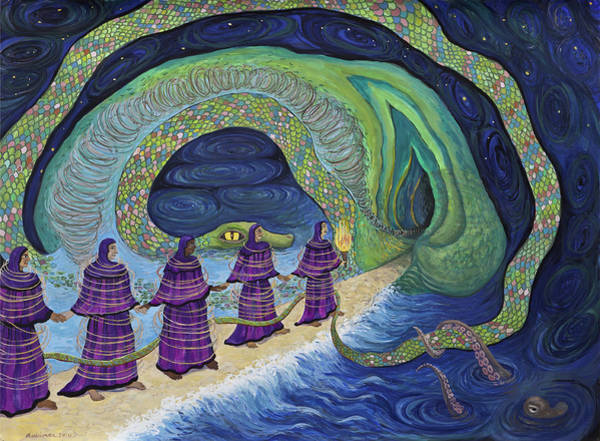 Painting - Ancient Serpent by Shoshanah Dubiner