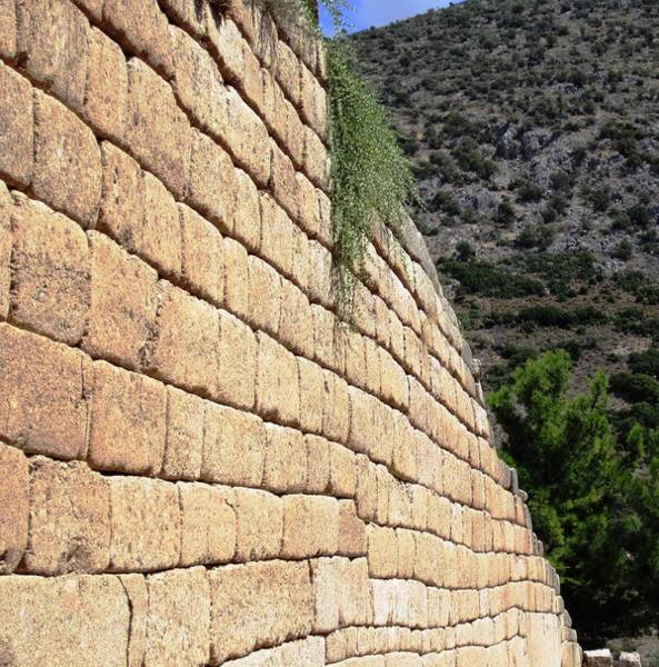 Photograph - Ancient Wall II Leading To Citadel And Treasury Of Atreus Tomb Of Agamemnon In Mycenae Greece by John Shiron