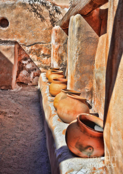Photograph - Ancient Wall Of Pots by Donna Greene