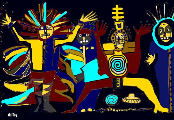 Ancients- Night Visit Art Print