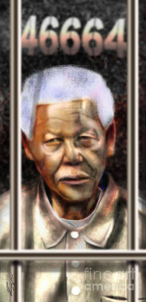 Nobel Painting - And God Remembered Prisoner 46664 by Reggie Duffie