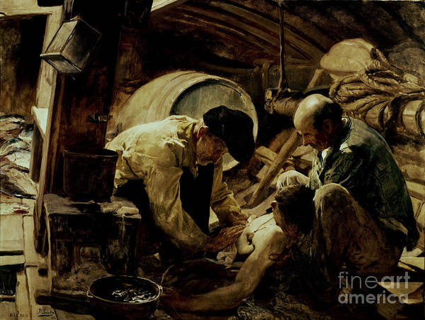 Oil Industry Painting - And They Still Say Fish Is Expensive by Joaquin Sorolla y Bastida