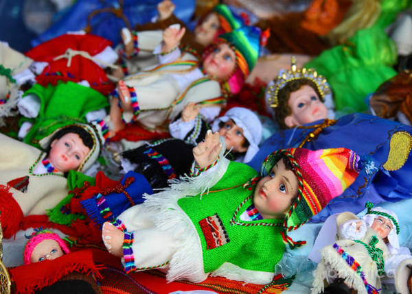 Photograph - Andean Baby Jesus Figures by James Brunker