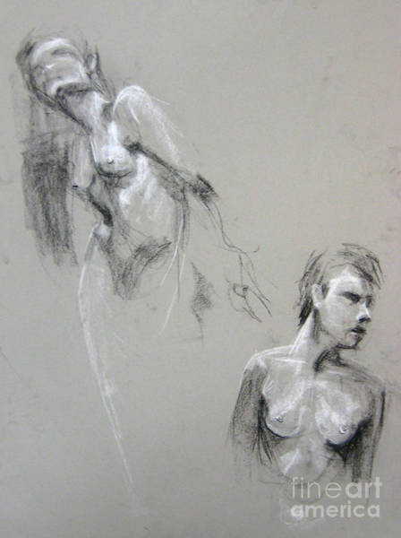 Art Print featuring the drawing Andro Double by Gabrielle Wilson-Sealy