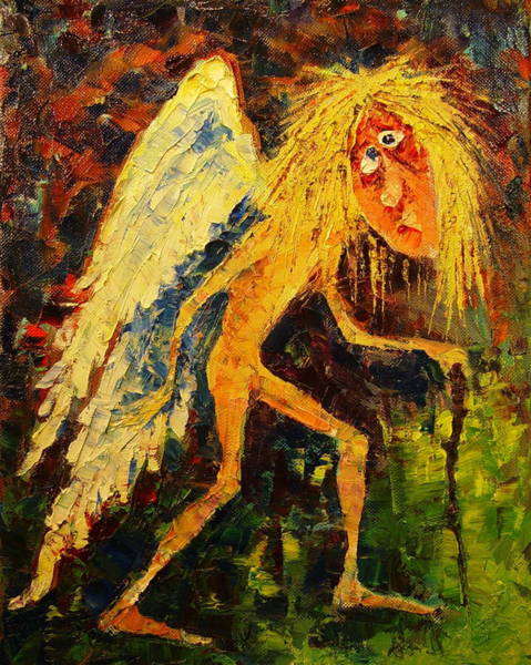 Avi Painting - Angel by Avi Gorzhaltsan