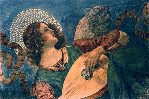 Wall Art - Photograph - Angel Depicted As A Musician By Melozzo Da Forli by Photos.com