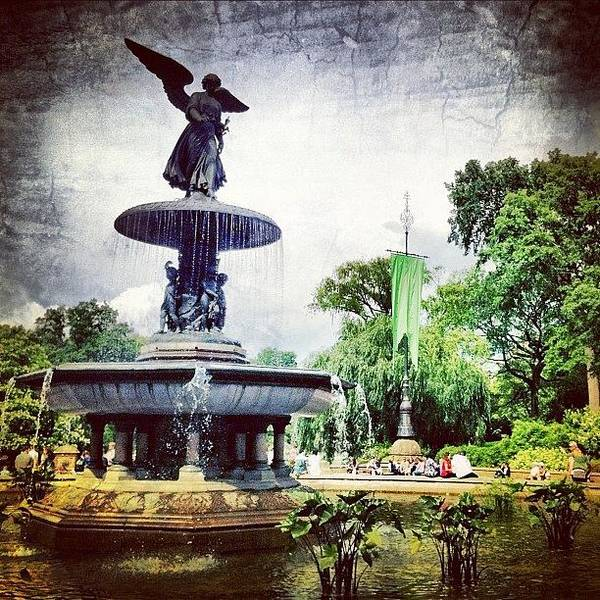 Spring Photograph - Angel Fountain. #centralpark #nyc by Luke Kingma