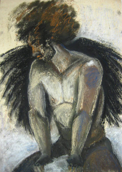 Art Print featuring the drawing Angel by Gabrielle Wilson-Sealy