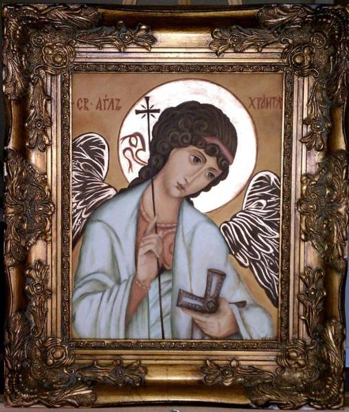 Ortodox Wall Art - Painting - Angel by Yelena Day