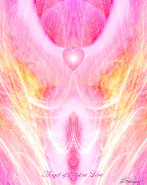Angel Of Divine Love Art Print