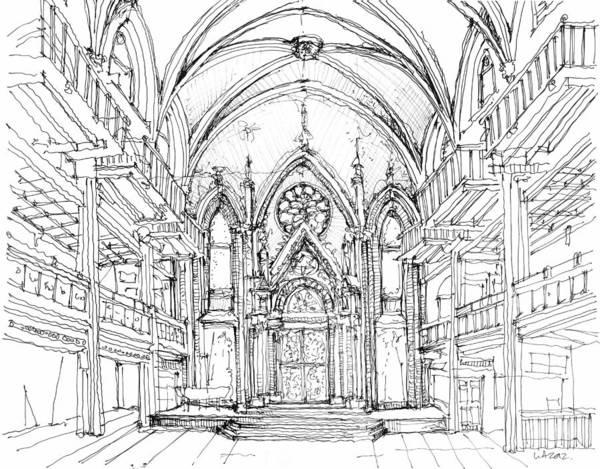 Planner Wall Art - Drawing - Angel Orensanz No 2 by Building  Art