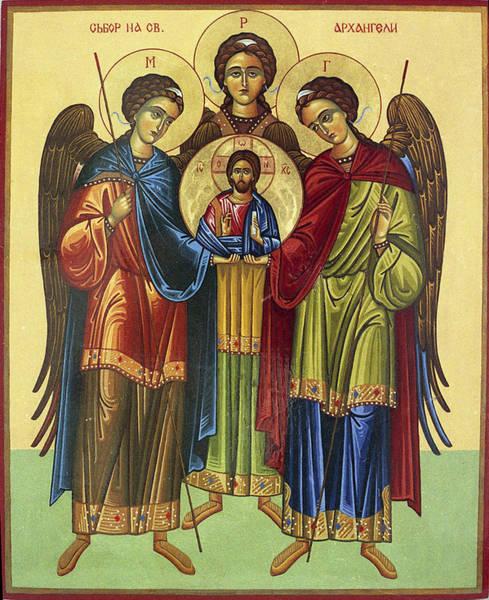 Ortodox Wall Art - Painting - Angelic Chor by Anton Dimitrov