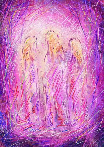 Angelic Digital Art - Angels by Rachel Christine Nowicki