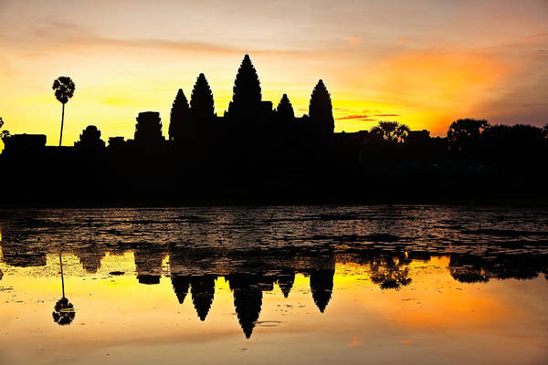 Photograph - Angkor Wat At Sunrise by Stefan Nielsen