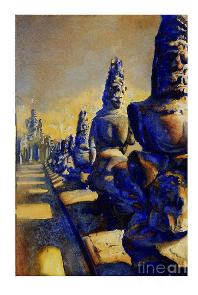 World Heritage Site Painting - Angkor Wat Ruins by Ryan Fox