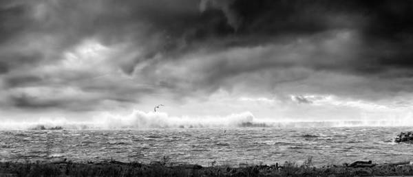 Whitecaps Photograph - Angry Lake 2 by Peter Chilelli