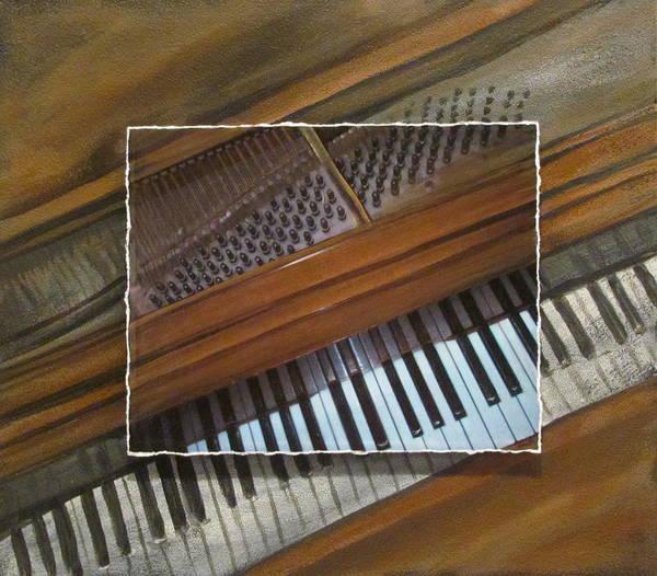 Mixed Media - Anita's Piano Layered by Anita Burgermeister