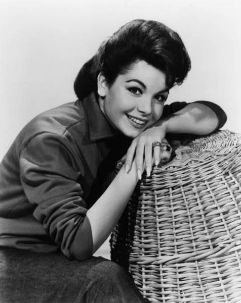 Basket Stars Photograph - Annette Funicello, Ca. Early 1960s by Everett