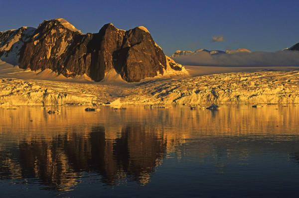 Photograph - Antarctica Glacier At Sunset by Cliff Wassmann