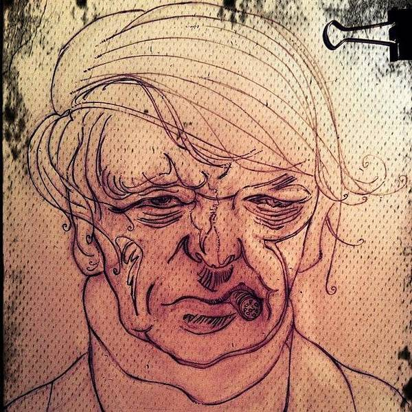 Pencil Wall Art - Photograph - Anthony Burgess by M Menagu