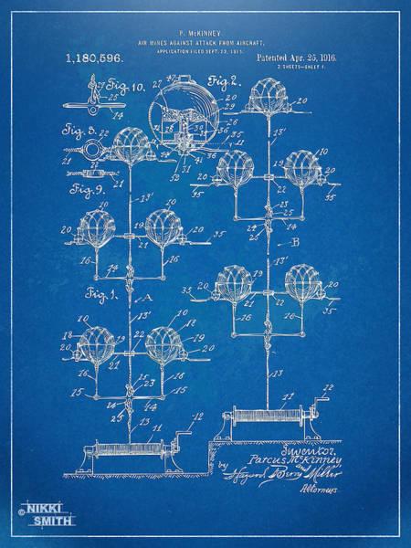 Navy Seal Wall Art - Digital Art - Anti-aircraft Air Mines Patent Artwork 1916 by Nikki Marie Smith